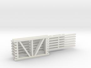 42X72 & 144 Beam Kit 1-87 HO Scale in White Natural Versatile Plastic