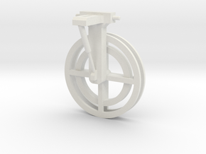 manure hose mover - 3pt mounted in White Natural Versatile Plastic