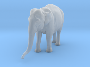 Indian Elephant 1:16 Standing Female 1 in Smooth Fine Detail Plastic