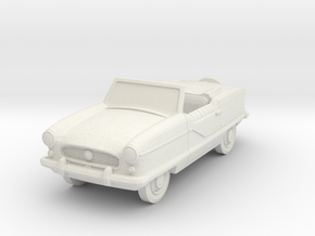 1956 Nash Metropolitan Convertible in White Natural Versatile Plastic: 1:87 - HO