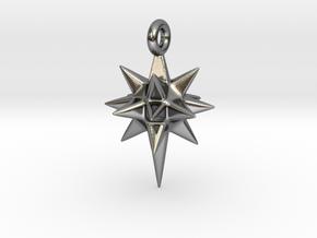 Moravian Star Earring in Polished Silver