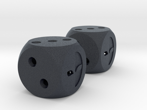 Lucky Dice in Black PA12