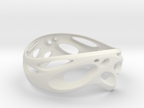 Bangle-03 in White Natural Versatile Plastic