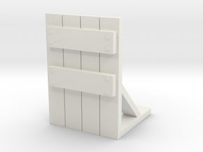 Wooden Barricade 1/56 in White Natural Versatile Plastic