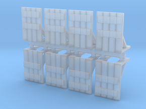 Wooden Barricade (x8) 1/285 in Smooth Fine Detail Plastic