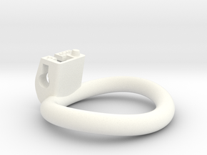Cherry Keeper Ring - 45x40mm Wide Oval -5°(~42.5mm in White Processed Versatile Plastic