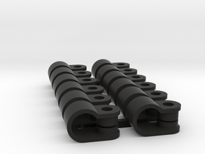 12 x 6mm Rod Clamp in Black Natural Versatile Plastic