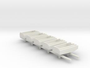 1/285 Landing Craft x6 in White Natural Versatile Plastic