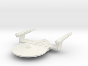 Federation Banks Class Frigate TMP in White Natural Versatile Plastic