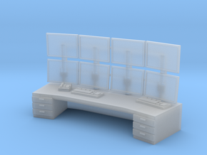 1:72 Control Center Workstation in Smooth Fine Detail Plastic