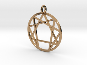 Holy Mountain Pendant in Polished Brass