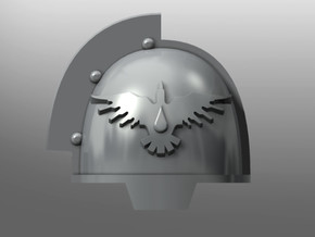 Grievous ptrn Shoulder Pads: Blood Magpies in Smooth Fine Detail Plastic: Small