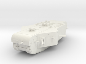 K-Wagen Tank 1/100 in White Natural Versatile Plastic