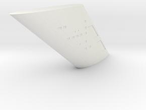 1000 TOS neck part in White Natural Versatile Plastic