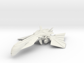 Romulan Core Class Destroyer WarBird V2 in White Natural Versatile Plastic