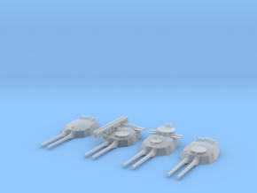 1/600 HMS Twin 15-inch (381 mm) guns SET v2 in Smooth Fine Detail Plastic