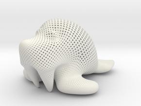 Walrus - diagonal in White Natural Versatile Plastic