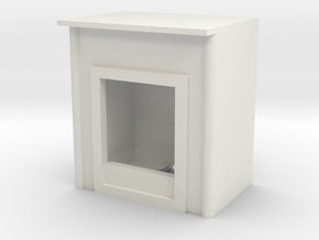 Fireplace 1/56 in White Natural Versatile Plastic