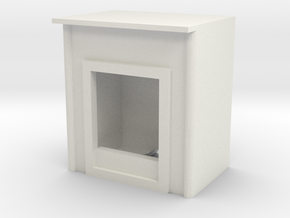 Fireplace 1/48 in White Natural Versatile Plastic