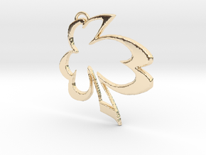 Irish Curve Cover Pendant in 14K Yellow Gold: Medium