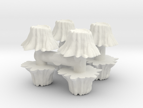 8 Tree Stumps (Set 1) 1/43 in White Natural Versatile Plastic