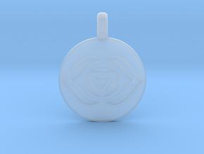 AJNA THIRD EYE Chakra Symbol jewelry Pendant in Smooth Fine Detail Plastic