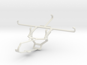 Controller mount for Steam & OnePlus 7T - Front in White Natural Versatile Plastic