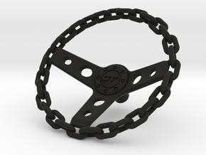 Chain Steering Wheel 1\10 in Black Natural Versatile Plastic: 1:10