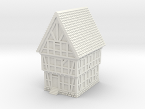 Medieval House B1 in White Natural Versatile Plastic