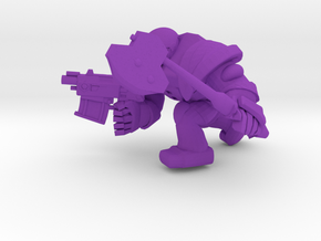 SPACEMARINER BOLTPIST and Axe  in Purple Processed Versatile Plastic