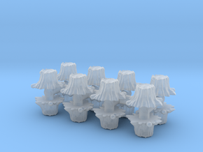 16 Tree Stumps (Set 1) 1/200 in Smooth Fine Detail Plastic