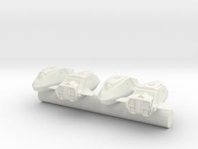 NX Enterprise Shuttlepod x4 1/1000 scale in White Natural Versatile Plastic