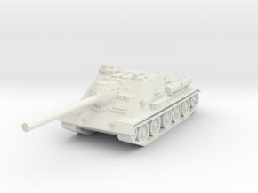 SU-100 tank 1/100 in White Natural Versatile Plastic