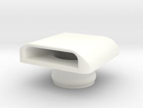 Kawasaki X2 Hood Scoop (Port/Forward) in White Processed Versatile Plastic