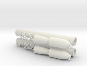 1/32 DKM G7 torpedo (21 in) KIT x2 v2 in White Natural Versatile Plastic