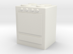 Stove 1/48 in White Natural Versatile Plastic