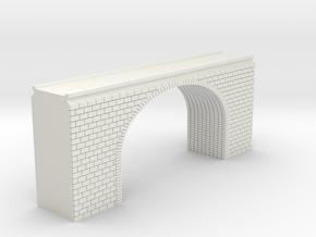 N Scale Arch Bridge Double Track 1:160 in White Natural Versatile Plastic
