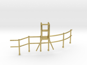 "1/48 USN Fletcher Roof Railing 2 ""Round Bridge"" v1 in Natural Brass"