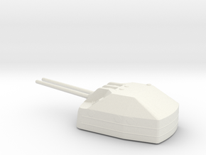 1/100 Scale IJN 10 Cm 65 Type 98 Naval Gun in White Natural Versatile Plastic