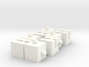 4+4 Puzzle in White Processed Versatile Plastic