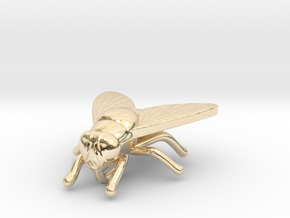 Fly Necklace in 14K Yellow Gold