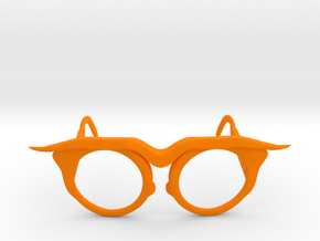 Frida Glasses in Orange Processed Versatile Plastic: Small