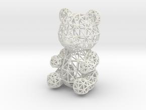 Teddy Bear Wireframe in White Natural Versatile Plastic