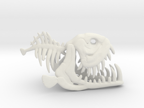 Fishbone in White Natural Versatile Plastic
