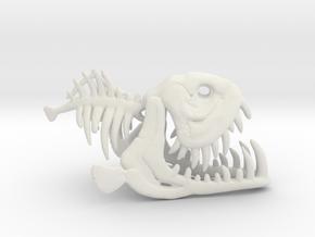Fishbone in White Natural Versatile Plastic