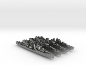 4pk S class British Destroyers 1:1800 WW2 in Natural Silver