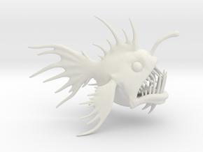 Anglerfish in White Natural Versatile Plastic