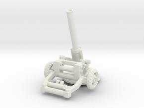 M160 Mortar (160mm) 1/56 in White Natural Versatile Plastic