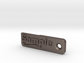Material Sample - Sample Stand (ALL MATERIALS) in Polished Bronzed Silver Steel