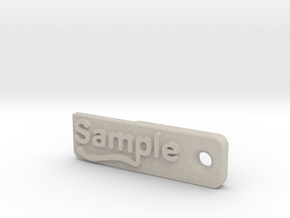 Material Sample - Sample Stand (ALL MATERIALS) in Natural Sandstone